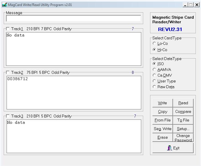 Msr605 software driver